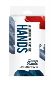 Antibac wet wipes Hånd 20 stk, PURENorway