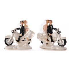 Brudepar på motorsykkel 9 cm