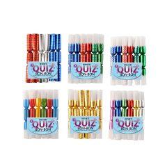 Knallbon-bon 6 stk med Quiz ass farger (190020)