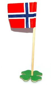 Bordflagg med kløverfot 2 stk