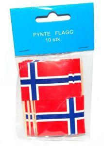 Flagg på trepinne pose 10 stk