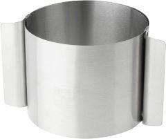 Kakering i stål Ø 10-18 cm, H 10 cm