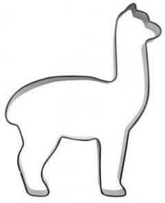 Utstikker Alpakka stor 11 cm