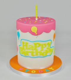 Utstikker Happy Birthday, 6 x 16 cm