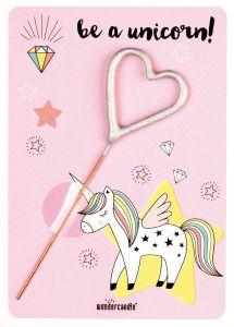Stjerneskudd, Hjerte mini JENTE, Unicorn