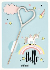 Stjerneskudd, Hjerte mini GUTT, Unicorn