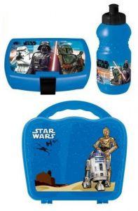 Star Wars lekekoffert med matboks og drikkeflaske