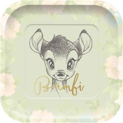 Papptallerken Bambi Square 24 cm, 4 stk