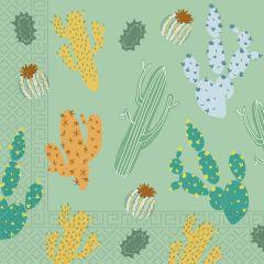 Papirservietter Cactus 20 stk, 33x33cm