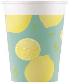 Drikkekrus i Papp, Lemon 8 stk
