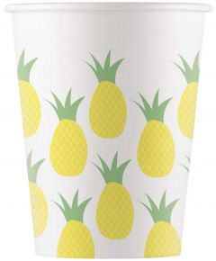 Drikkekrus i Papp, Pineapple 8 stk