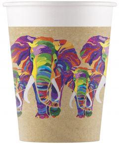 Drikkekrus i Papp, Elefant 8 stk COMPOSTABLE