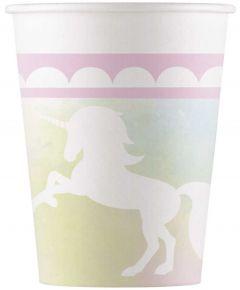 Drikkekrus i Papp, Belive in Unicorns 8 stk