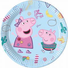 Papptallerken Peppa Pig 23 cm, 8 stk