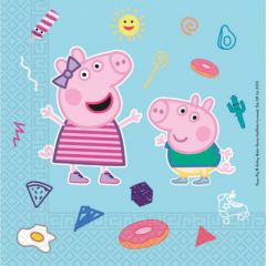 Papirservietter Peppa Pig Compostable 20 stk, 33x3