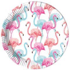 Papptallerken Flamingo Compostable 23 cm, 8 stk