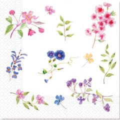 Papirservietter Blomster Compostable 20 stk, 33x33