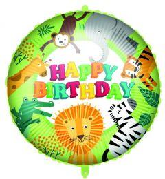 Ballong Jungel Happy Birthday Folie 46 cm
