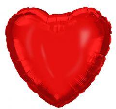 Ballong Hjerte Rød Folie 46 cm
