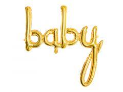 Ballong Baby Gullfolie 73,5x75,5cm