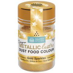 Designer Dust Gold Sparkles Metallic Food Colour,