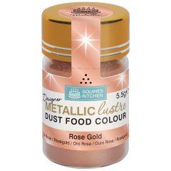 Designer Dust Rose Gold Metallic Food Colour, 5,5g