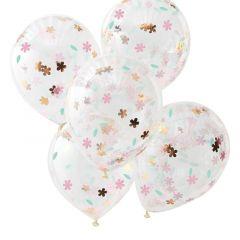 Ballong med Blomstermotiv 30 cm, 5 stk