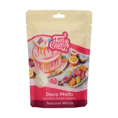 Candy Deco melts Hvit, 250 g Funcakes