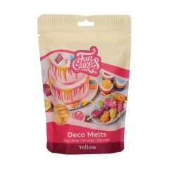 Candy Deco melts Gul, 250 g FC