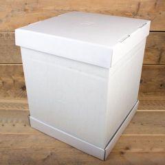 Kakeboks hvit papp 37 x 37 x 45 cm