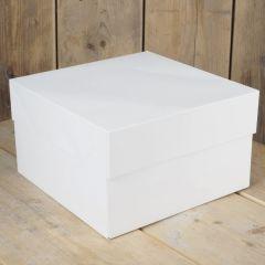 Kakeboks hvit papp 30 x 30 x 15 cm