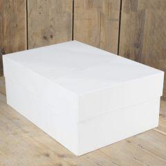 Kakeboks hvit papp 40 x 30 x 15 cm