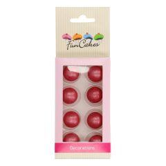 Sjokoladekuler Rosa Mørk Pearl 8 stk (2 cm)