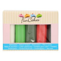 Fondant Julefarger ass 5 x 100g