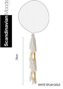 Tassel White Splash Gold 70 x 25 cm