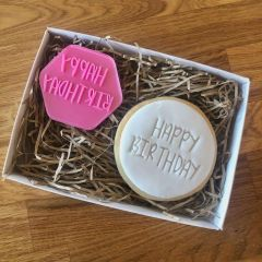Happy Birthday Sunny Font Cookie Stamp