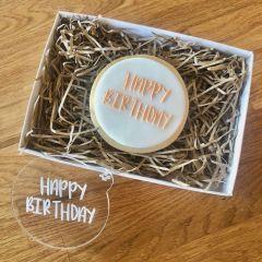 Happy Birthday Sunny Font Cookie Embosser