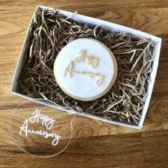 Happy Anniversary Cookie Embosser