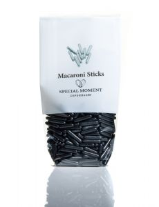 Macaroni Sticks - Sort Shiny 120g