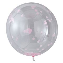 Ballong med Confetti Rosa 90 cm, 3 stk