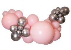 Ballongoppsats Rosa med Sølv