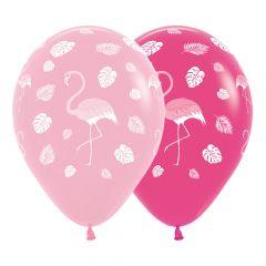 Ballonger Flamingo Rosa ass 30cm, STK